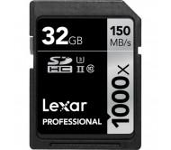 Lexar Professional SDHC 32 Gb 1000x (150Mb/s) U3 4K yaddaş kartı