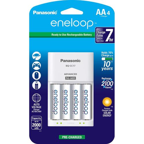 Panasonic Eneloop dəst (4 ədəd + enerji cihazı)