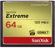 Sandisk Extreme CF 64 Gb 800x (120Mbs) yaddaş kartı